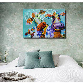 HD Print Modern Decoration Cute Cow Home Living Room Bedroom Wall Art Painting - CHARM 24 X 36 INCH (60CM X 90CM)
