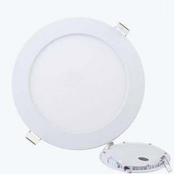 5PCS Ultra Thin LED Panel Lamp 4W Living Room Round Opening 9.5 Centimeters - WHITE