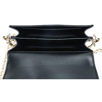 Women Zipper Messenger Bags Fashion Ladies Luxury Chain Shoulder Bag - BLACK