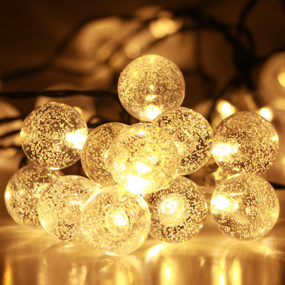 GMY Lighting 30 Led Solar Crystal Ball Christmas Light Strip Garden Holiday Party Decorate 28.3 Feet 2V - WARM WHITE