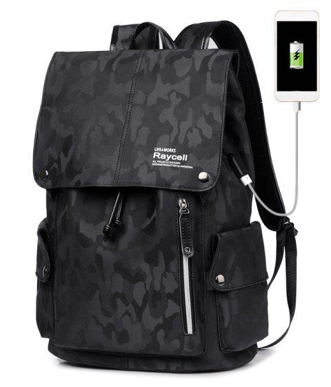 Raycell Waterproof Laptop Backpack College Student School For Teenagers Anti-theft Bags - BLACK