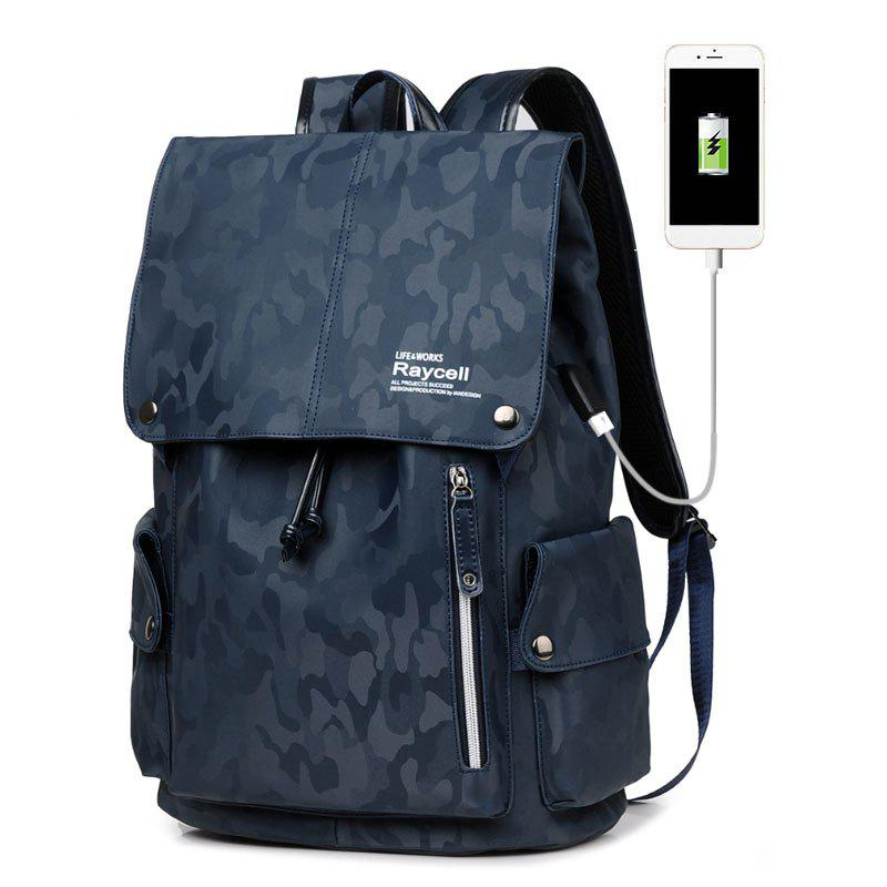Raycell Waterproof Laptop Backpack College Student School For Teenagers Anti-theft Bags - BLUE