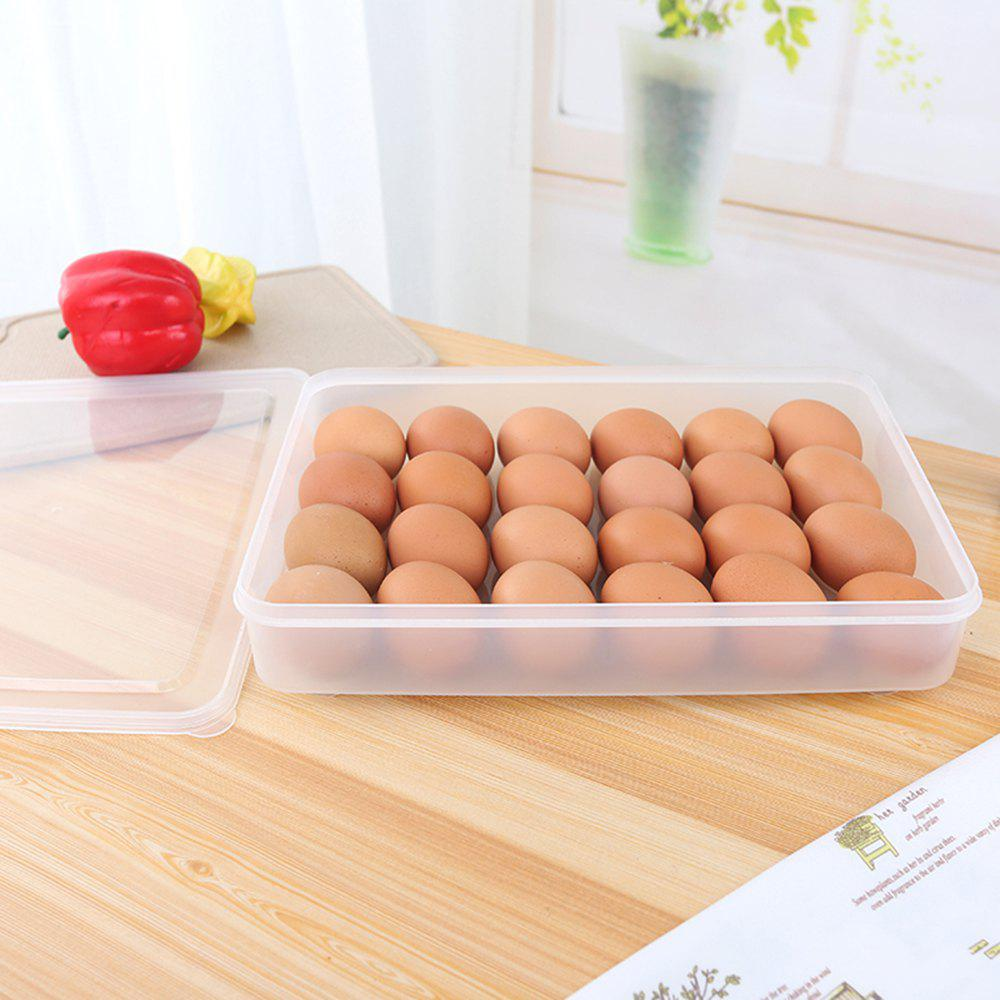 24 Grid Single Layer Plastic Egg Box Case Holder Storage Container Fridge - TRANSPARENT