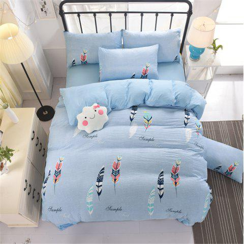 Aloe Cotton Student Dormitory Bedding 1.5M/1.8M 4PCS/SET - LIGHT BLUE FULL