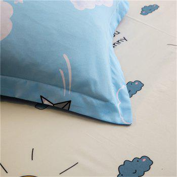 Cotton Four Pieces Bedding Sets Active Printing - BLUE KING