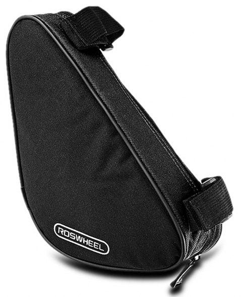 Roswheel 12657 1.5L Outdoor Triangle Cycling Bicycle Front Tube Frame Bag - BLACK