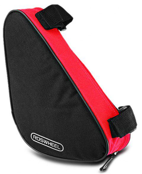 Roswheel 12657 1.5L Outdoor Triangle Cycling Bicycle Front Tube Frame Bag - RED