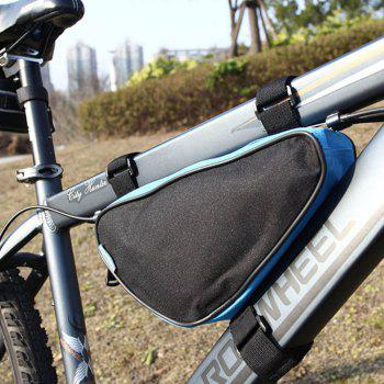 Roswheel 12657 1.5L Outdoor Triangle Cycling Bicycle Front Tube Frame Bag - BLUE