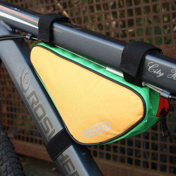 Roswheel 12657 1.5L Outdoor Triangle Cycling Bicycle Front Tube Frame Bag - IVY