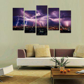 MailingArt F034 5 Panels Landscape Wall Art Painting Home Decor Canvas Print - COLORMIX 30X60CM 4PCS + 30X80CM 1PC   12X24INCH 4PCS + 12X3