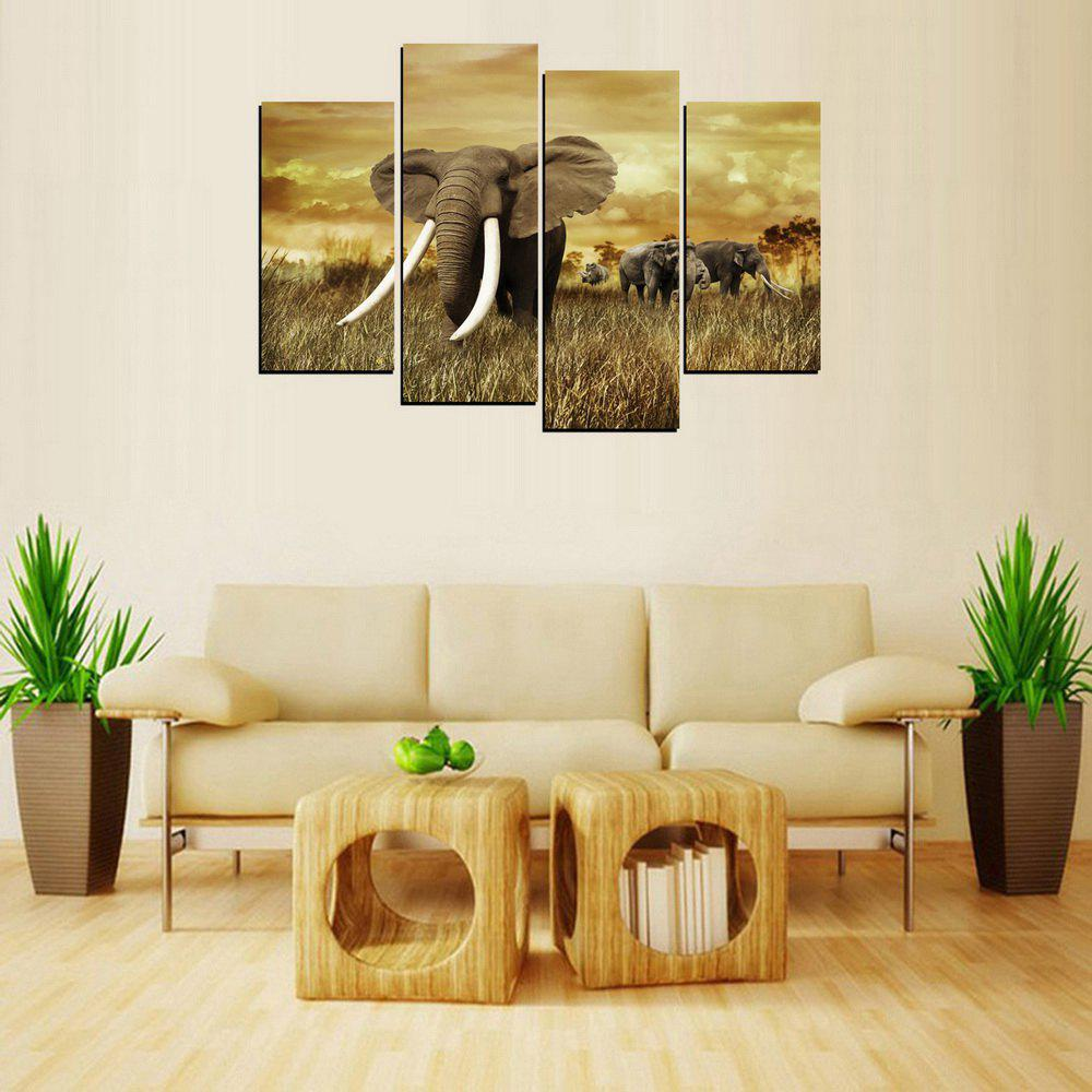 MailingArt FIV226  Four Panels Landscape Wall Art Painting Home Decor Canvas Print - COLORMIX 30X60CM 2PCS  30X80 2PCS  12X24INCH 2PCS  12X32INC