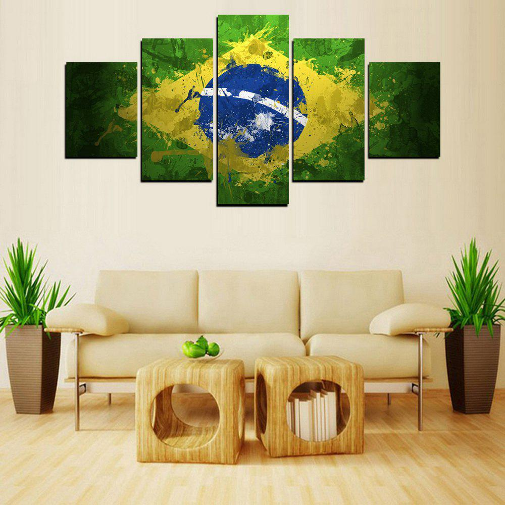 MailingArt FIV228  5 Panels Landscape Wall Art Painting Home Decor Canvas Print - COLORMIX 30X40CM 2PCS 30X60CM 2PCS 30X80CM 1PC 12X16INCH 2P