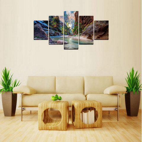 MailingArt FIV233  5 Panels Landscape Wall Art Painting Home Decor Canvas Print - multicolor 30X40CM 2PCS 30X60CM 2PCS 30X80CM 1PC 12X16INCH 2P