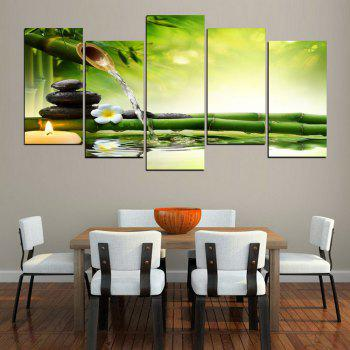 MailingArt FIV237  5 Panels Landscape Wall Art Painting Home Decor Canvas Print - COLORMIX 30X60CM 4PCS  30X80CM 1PC   12X24INCH 4PCS  12X32I