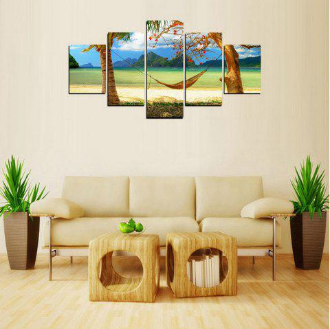 MailingArt FIV244  5 Panels Landscape Wall Art Painting Home Decor Canvas Print - multicolor 30X40CM 2PCS 30X60CM 2PCS 30X80CM 1PC 12X16INCH 2P