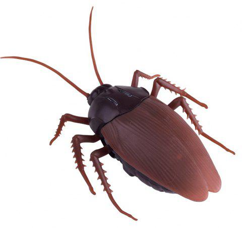 Infrared Remote Control Simulation Electronic Cockroaches Toy - BROWN