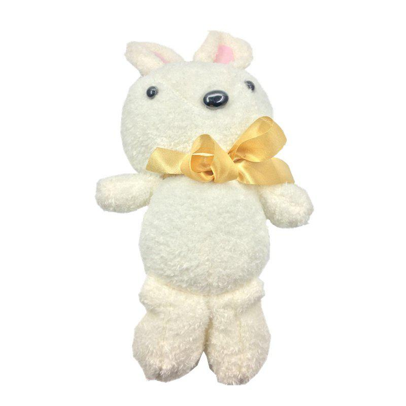 2018 Valentine Day Gift New Shy Butterfly Knot Rabbit Plush Doll - WHITE 32CM / 12.6 INCH