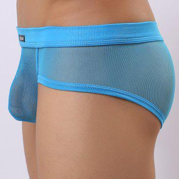 Men's Transparent Sexy Breathable Young Underpants - WINDSOR BLUE M