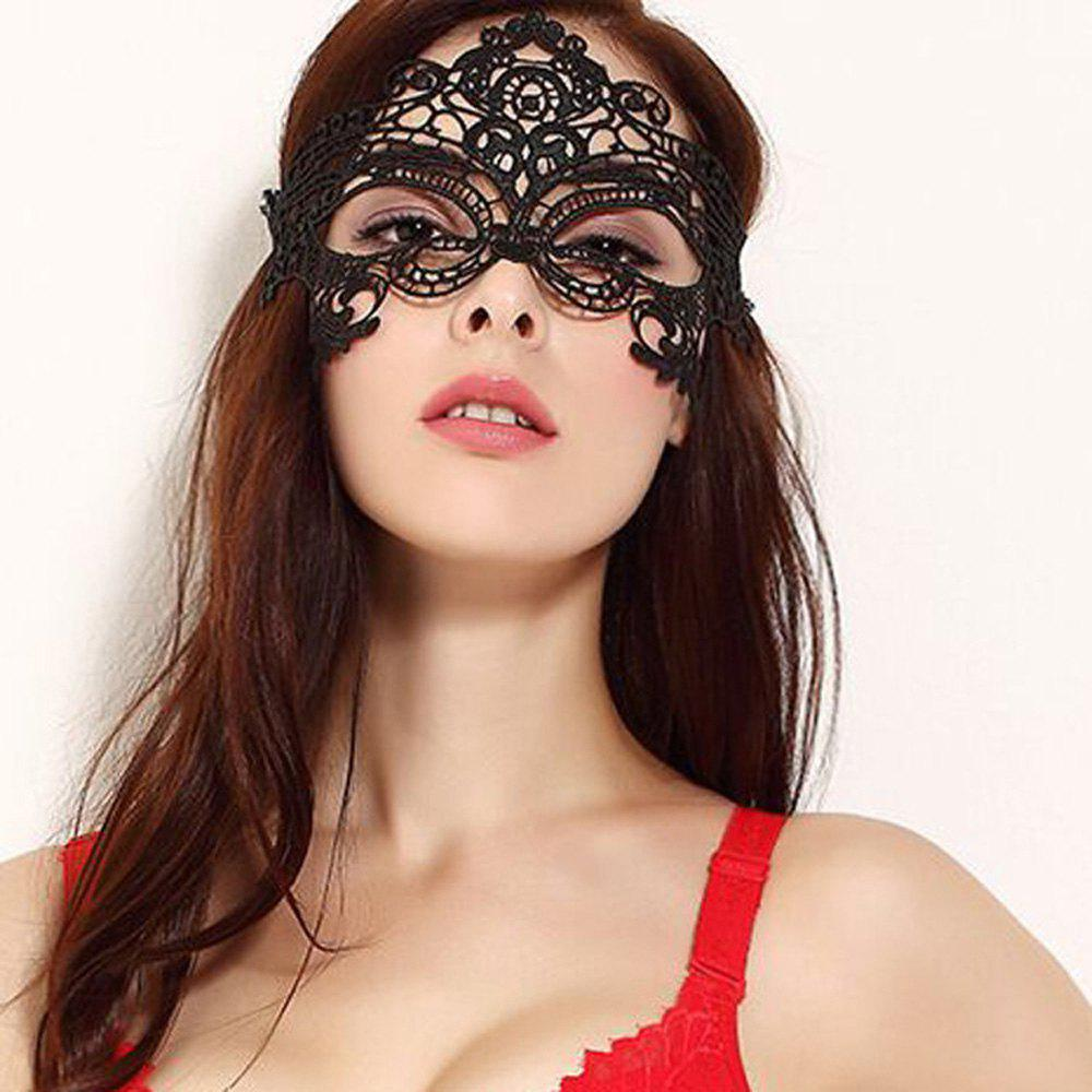 Sexy Ladies Lace Mask Masquerade Party Fancy Dress Halloween Fancy - BLACK