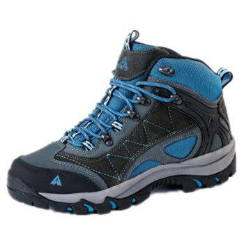 Hiking Shoes Men's Anti-fur Climbing Boots Trekking Sneakers - GRAY 37