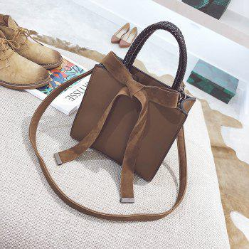 Fashion Messenger Shoulder Bag Simple Handbag - BROWN