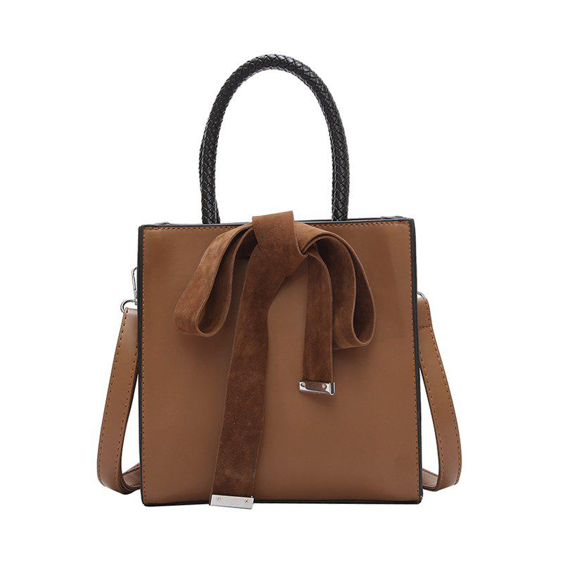 Fashion Messenger Sac à bandoulière Simple Sac à main - Brun