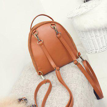 Casual Mini All-match Backpack - BROWN