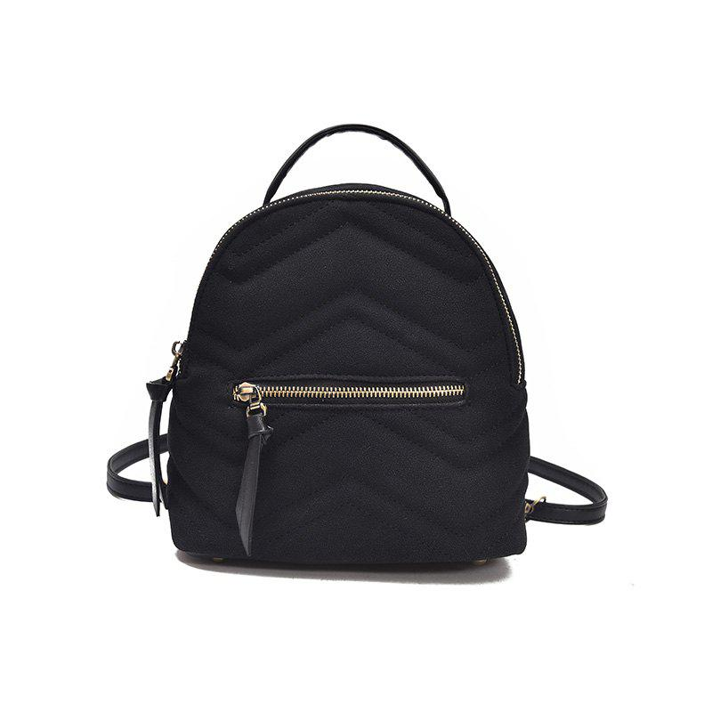 Casual Mini All-match Backpack - BLACK