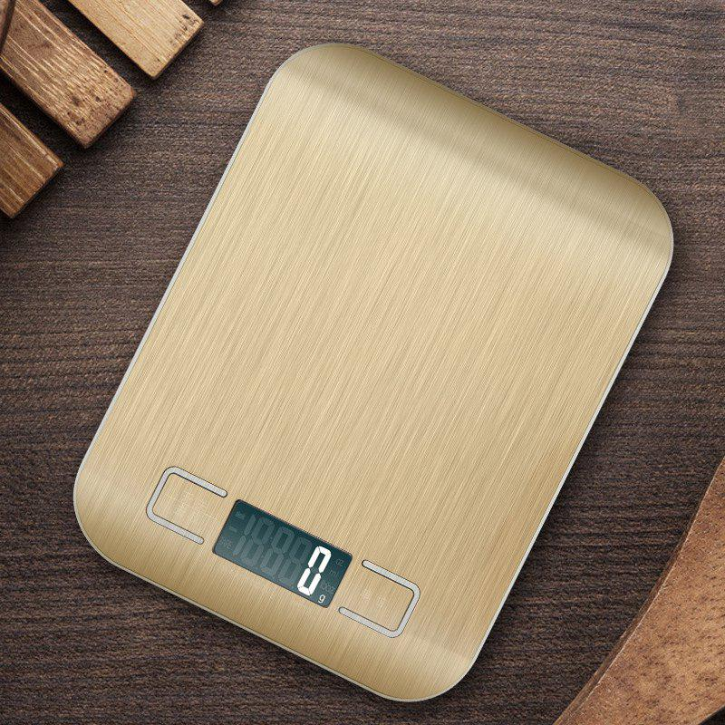 Digital Kitchen Scale Multifunction Food Scale Golden Silver Stainless Steel - GOLDEN