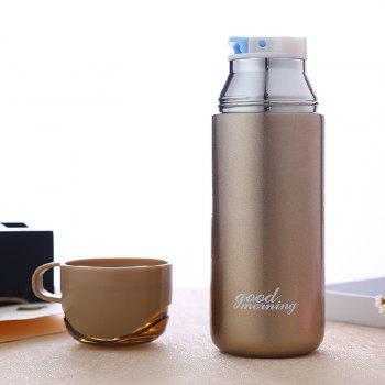 Double Color Lid Stainless Steel Vacuum Cup - GOLDEN 380ML