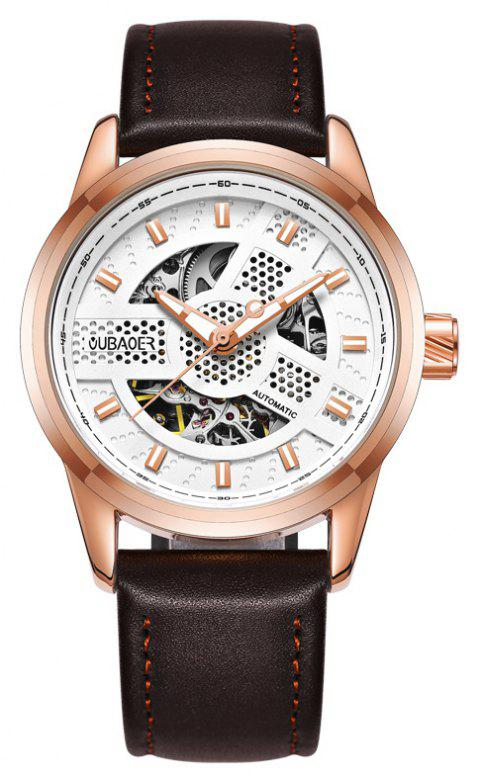 OUBAOER 2002A Automatic Mechanical Hollow Men Watches - COFFEE