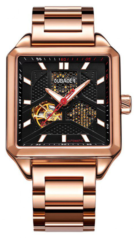 OUBAOER 2003B Square Automatic Mechanical Hollow Men Watches - ROSE GOLD