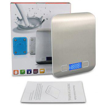 K15 Portable Stainless Steel Kitchen Scale - STAINLESS STEEL