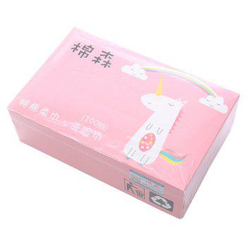 Wash Facial Towel Disposable Double-sided Cotton 100PCS - PINK