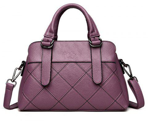 Fashion Simple Portable Shoulder Messenger Bag - PURPLE