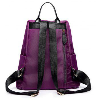 Embroidery Shoulder Bag Female Fashion Wild Female Anti-theft  Backpack - PURPLE