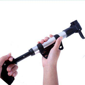 New Style Aluminium Alloy Mini Portable Bicycle Pump with Presta valve and Schrader Valve for Mountain Road Hybrid - SILVER
