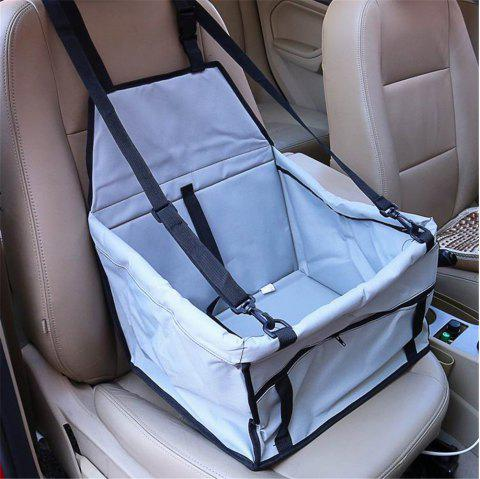 Pet Dog Cat Car Seat Bag Carriers Small Animal Mat Blanket Safety Belt Cover Mat Protector - GRAY