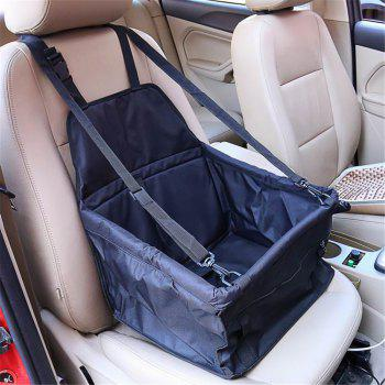 Pet Dog Cat Car Seat Bag Carriers Small Animal Mat Blanket Safety Belt Cover Mat Protector - BLACK