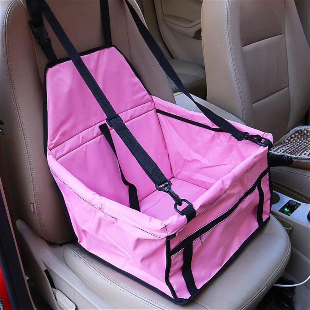 Pet Dog Cat Car Seat Bag Carriers Small Animal Mat Blanket Safety Belt Cover Mat Protector - PINK