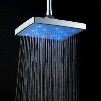 New LED Top Colorful Discoloration Shower - SILVER