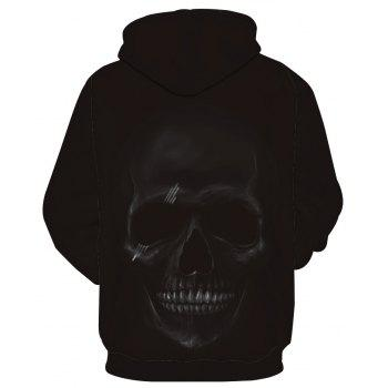 Fashion Skull Printed Hoodie - BLACK 6XL