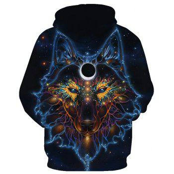 Hoodies lâches Fashion Wolf - Noir S