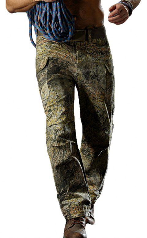 Camouflage Trousers Outdoor Survival Transport Casual Overalls Pants - GRASS GREEN L