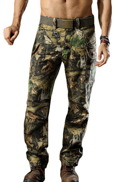 Camouflage Trousers Outdoor Survival Transport Casual Overalls Pants - JUNGLE CAMOUFLAGE XL