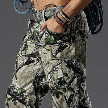 Camouflage Trousers Outdoor Survival Transport Casual Overalls Pants - TERRAIN CAMOUFLAGE L