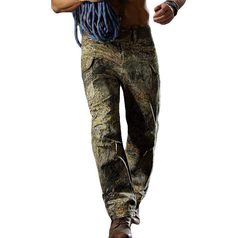 Pantalon de camouflage Outdoor Survival Transport Pantalon de survêtement Casual - Herbe Verte XL