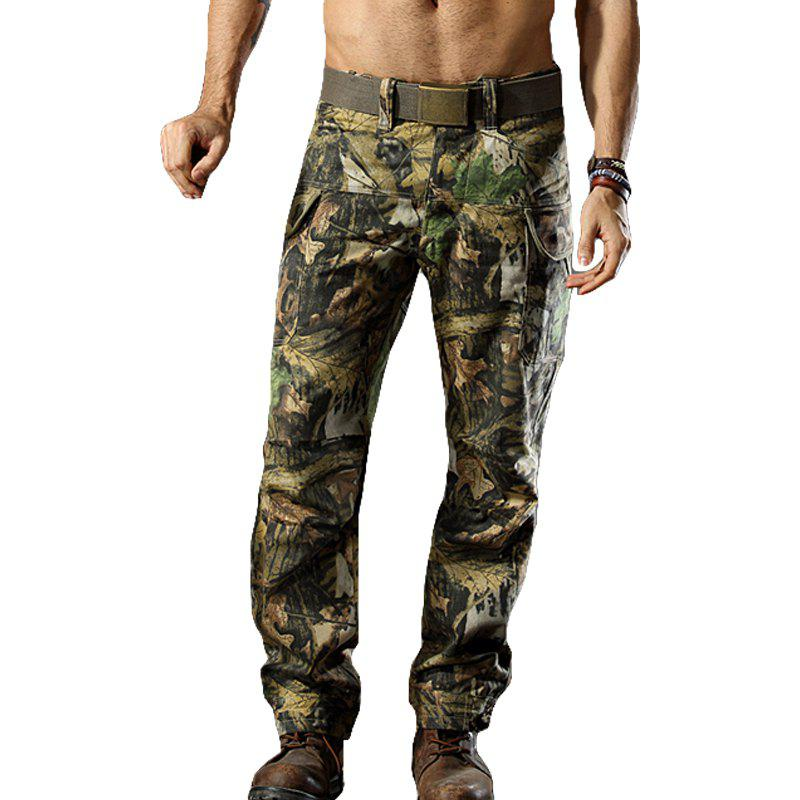 Camouflage Trousers Outdoor Survival Transport Casual Overalls Pants - JUNGLE CAMOUFLAGE M