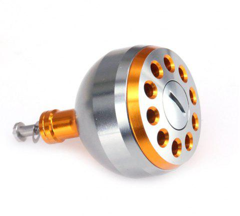 DEUKIO New Fishing Reel Handle CNC Carved Knob Size 38mm For The Baitcasting Round Reel - GOLDEN 38MM