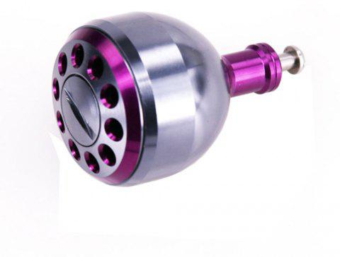 DEUKIO New Fishing Reel Handle CNC Carved Knob Size 38mm For The Baitcasting Round Reel - PURPLE 38MM